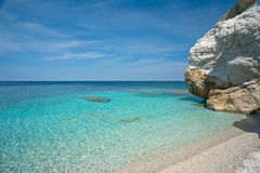 Elba Island. Desert beach and cristal clear water Royalty Free Stock Images