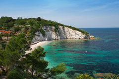 Elba Island. Desert beach and cristal clear water Stock Images