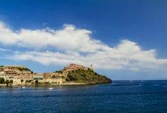 Elba island. The entry of Portoferraio, the main port of the Elba island  (Tuscany, Italy Royalty Free Stock Images