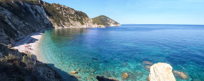 Elba Island havssikten Arkivbild