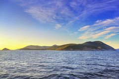 Elba island morning view from ferry boat. Mediterranean sea. Ita Stock Photography