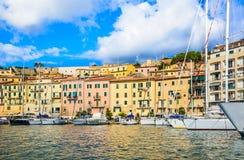 Elba island panoramic view of Portoferraio, Italy. Royalty Free Stock Photos