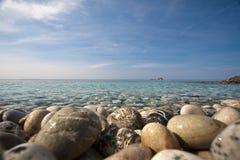 Elba Island. Pebbles beach and cristal clear sea Royalty Free Stock Photos