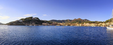 Elba island, Porto Azzurro village bay panoramic view. Tuscany, Stock Image