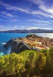 Elba island, Portoferraio aerial view. Lighthouse and fort. Tusc Stock Photos