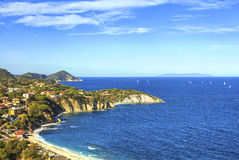 Elba island, Portoferraio Sansone white beach coast. Tuscany, It Royalty Free Stock Image