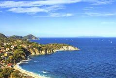 Elba island, Portoferraio Sansone white beach coast. Tuscany, It Royalty Free Stock Image