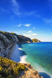 Elba island, Portoferraio Sansone white beach coast. Tuscany, It Royalty Free Stock Photo