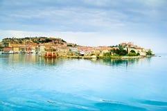 Elba island, Portoferraio village harbor and skyline. Tuscany, I Royalty Free Stock Photography