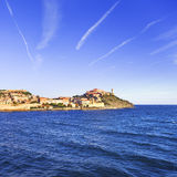 Elba island, Portoferraio village and lighthouse. Tuscany, Italy Stock Photos