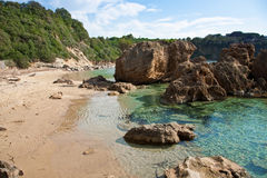 Elba Island. Pristine beach and cristal clear water Stock Images