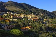 Elba island, Rio nell Elba village. Tuscany, Italy. Royalty Free Stock Image