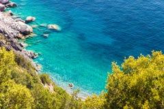 Elba island sea near Pomonte Stock Photo