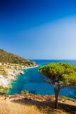 Elba island sea near Pomonte Stock Image