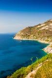 Elba island sea near Pomonte Stock Images