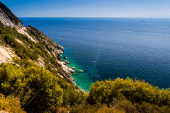 Elba island sea near Pomonte Royalty Free Stock Images