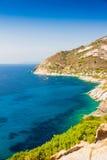 Elba island sea near Pomonte Stock Photos