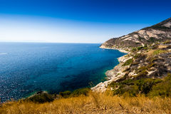 Elba island sea near Pomonte Royalty Free Stock Photo