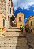 Elba Island - Straße in Marciana Stockfotografie