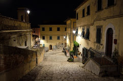 Elba island, Street upstairs in historical center of Portoferraio. Stock Photos