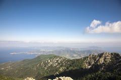 Elba Island. View from the highest mountain in Elba Island Stock Photos