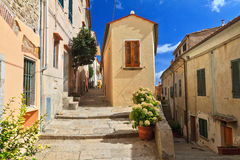 Elba Island - view in Marciana Stock Photography