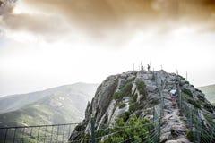 Elba Island. Walking on the highest mountain in Elba Island Royalty Free Stock Images