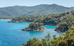Scenic sight near Procchio in Elba Island, Tuscany, Italy. Elba is an Italian island in the Tyrrhenian Sea's Tuscan Archipelago National Park stock photography