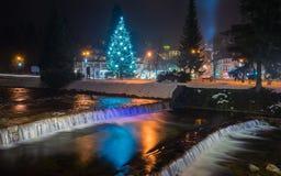 Elba och jul royaltyfria foton