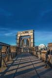 Elbbahnhof - Old Railway Bridge over the Elbe in Magdeburg, Germ Stock Photos