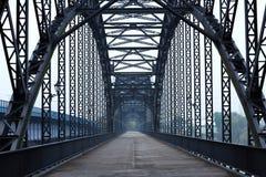 Elbe bridge. Steel bridge over a River in Hamburg Stock Photo