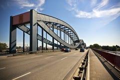Elbe bro på Hamburg arkivbild