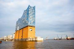 Elbe filharmoniska Hall i Hamburg Royaltyfria Foton