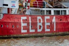Elbe 1 fire ship Royalty Free Stock Photos