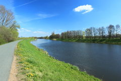 elbe flod arkivbild