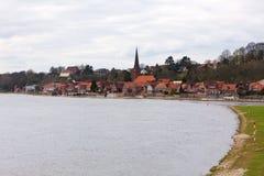 elbe lauenburgflod royaltyfri foto