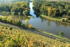 Elbe och Vltava confluence Royaltyfri Bild