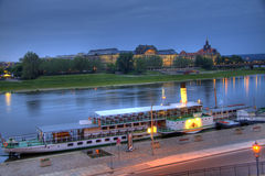 Elbe Paddleboat in HDR Stock Image