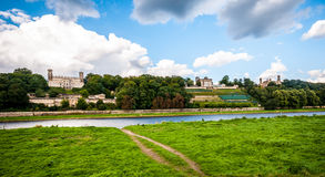 Elbe Palaces Stock Photography