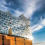 The Elbe Philharmonic Hall or Elbphilharmonie, concert hall, Hamburg. The Elbe Philharmonic Hall or Elbphilharmonie, concert hall in the Hafen City quarter of Royalty Free Stock Images
