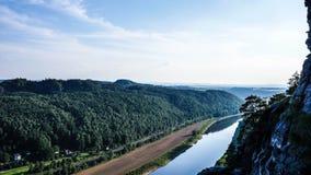 Elbe piaskowa góry zdjęcie royalty free