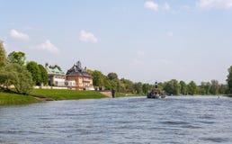 Elbe River Fotografering för Bildbyråer