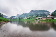 Elbe River in Czech Republic Royalty Free Stock Image
