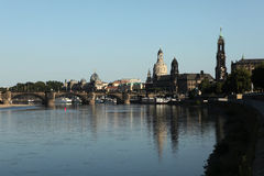 Elbe River in Dresden, Germany. Royalty Free Stock Photography