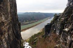 Elbe River i Sachsen Royaltyfri Fotografi