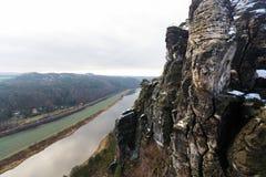 Elbe river in Saxony Stock Photo
