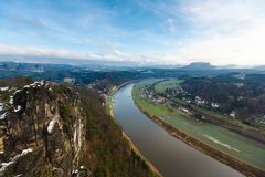 Elbe river in Saxony Royalty Free Stock Photography
