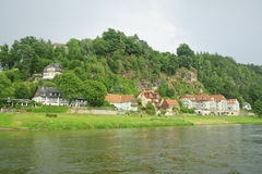 Elbe river scenery in summer. Stock Photo