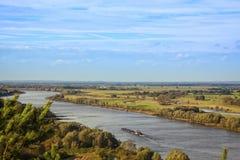 Elbe River spolning till och med den Wendland regionen royaltyfri foto