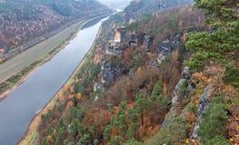 Elbe River Tyskland Royaltyfria Foton
